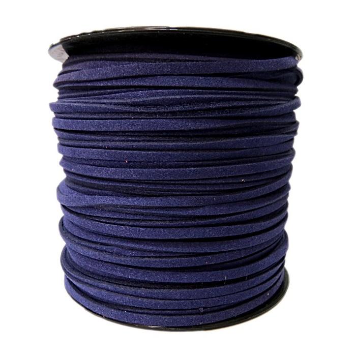 Camurça 3mm Azul Marinho (100 metros)- CG045 ATACADO
