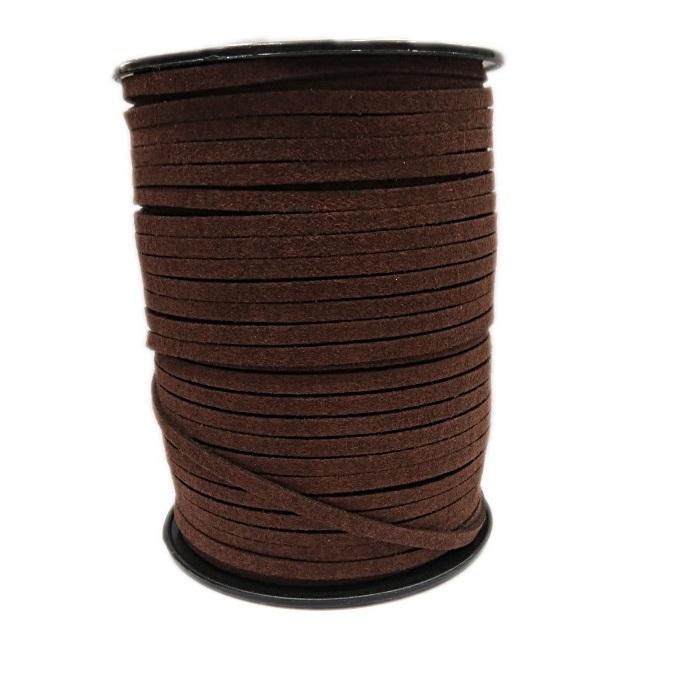 Camurça 4mm Chocolate (100 metros)- CG019 ATACADO