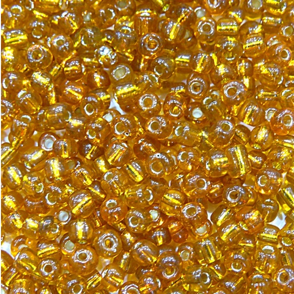 Miçanga chinesa ambar metalizado (50 grs)- MIÇ001