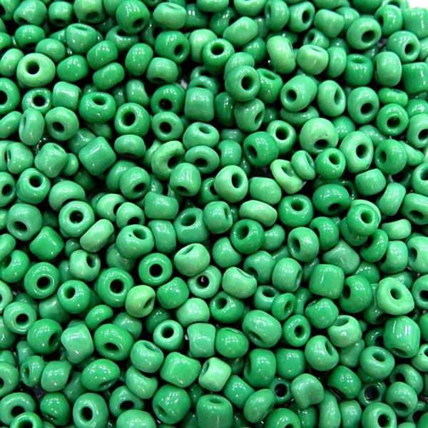 Miçanga chinesa verde (500 grs)- MIÇ012  ATACADO