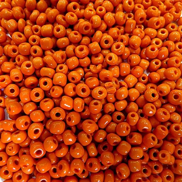 Miçanga chinesa laranja (50 grs)- MIÇ020