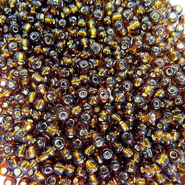 Miçanga chinesa marrom metalizada (50 grs)- MIÇ019