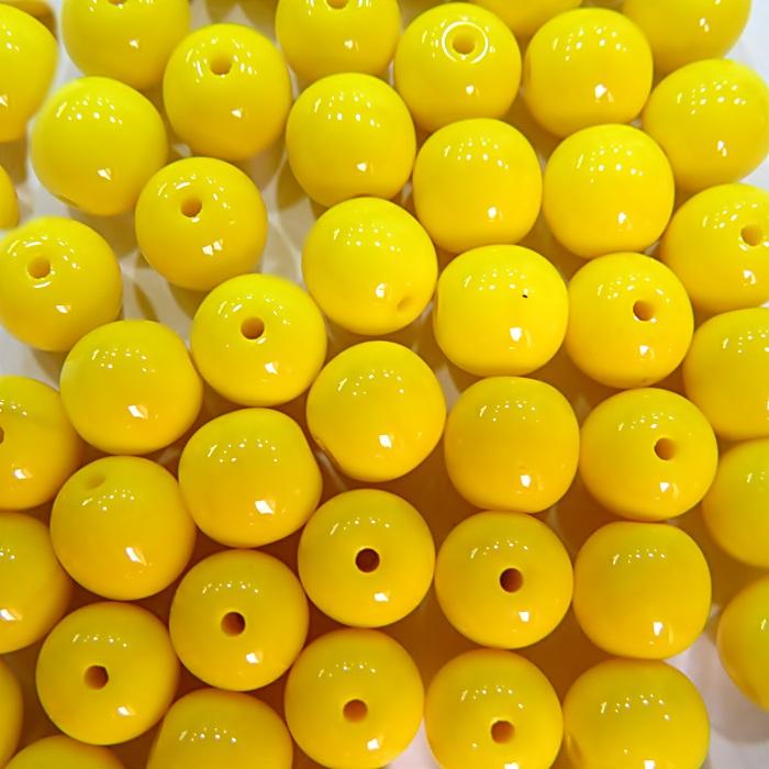 Porcelana tcheca Nº 08 amarelo (Atacado e Varejo)- POR009
