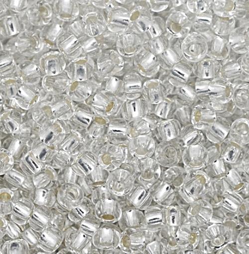 Miçanguinha jablonex Cristal metalizado -9/0(Atacado e Varejo)- MIP051