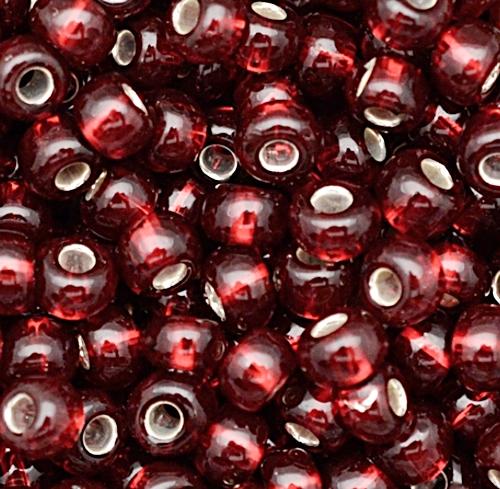 Miçanguinha jablonex vermelha metalizada-9/0 (Atacado e Varejo)- MIP055