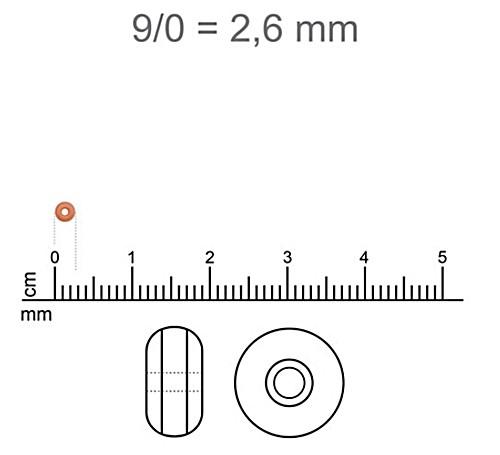 Miçanguinha jablonex amarela-9/0 (Atacado e varejo)- MIP057