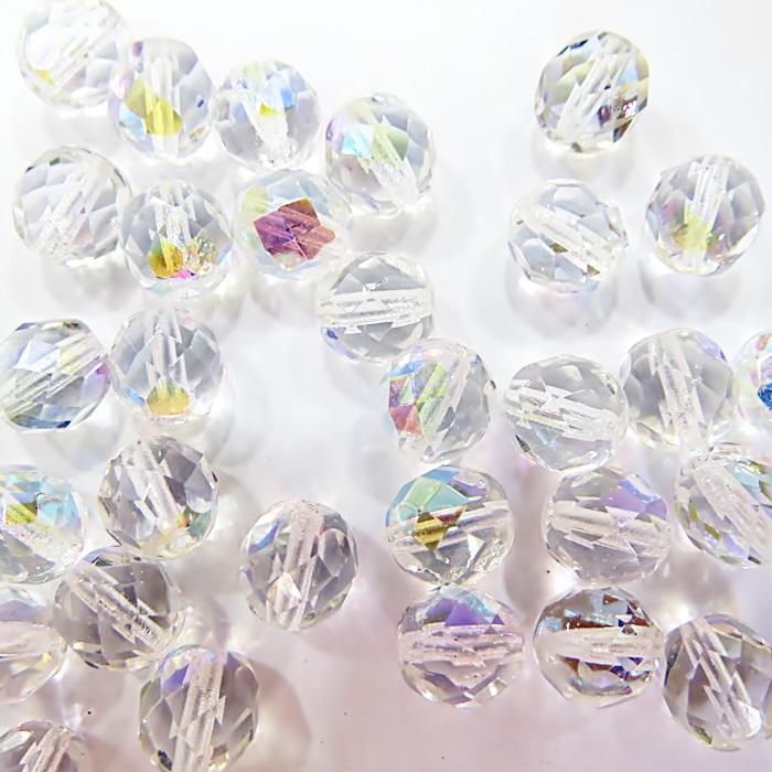Cristal tcheco Nº 08 cristal Ab(30 unidades)- CRI007