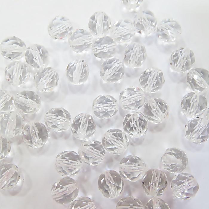 Cristal tcheco Nº 08 cristal (50 unidades)- CRI008