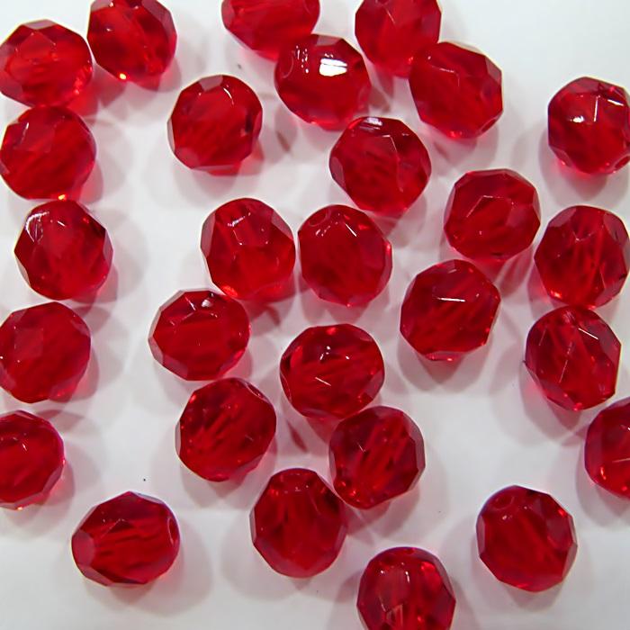 Cristal tcheco Nº 08 siam Vermelho (20 unidades)- CRI014