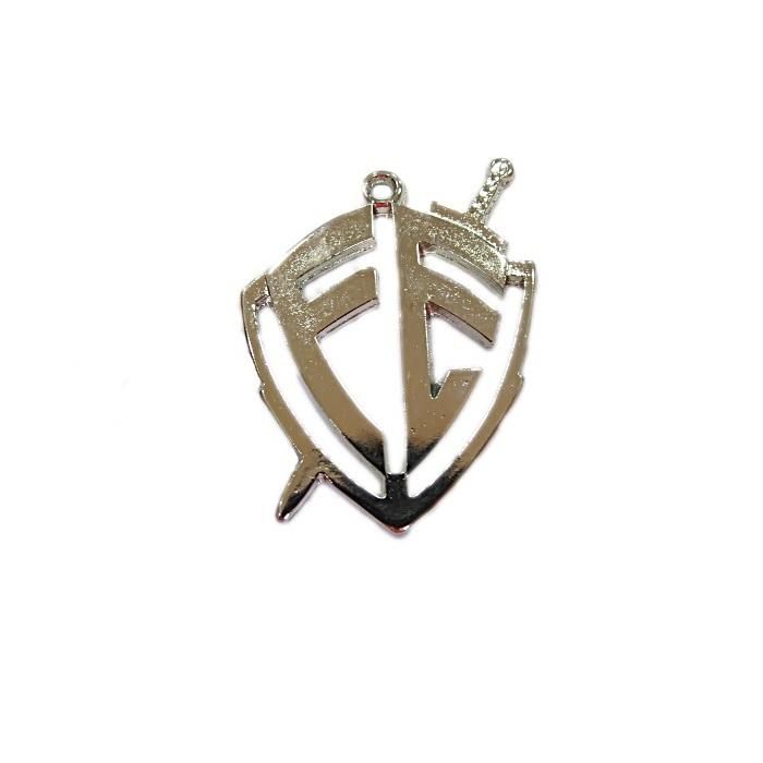 Pingente níquel escudo fé - PTN113