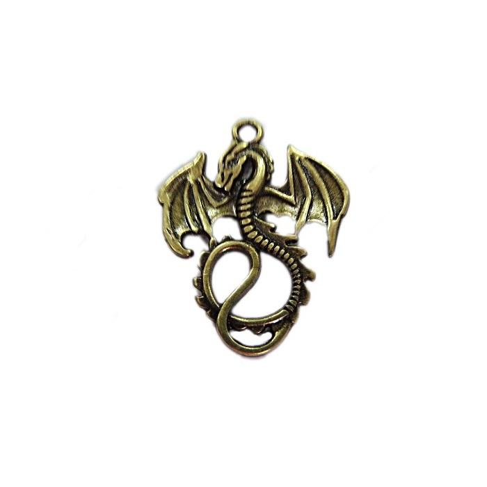 Pingente ouro velho Dragão- PTO077