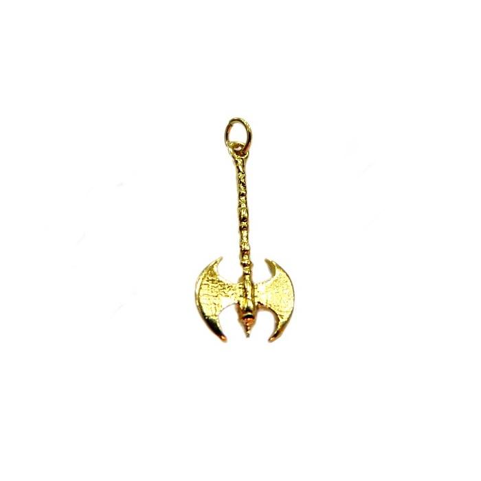 Pingente ferramenta dourada machadinho trabalhado- PFD015