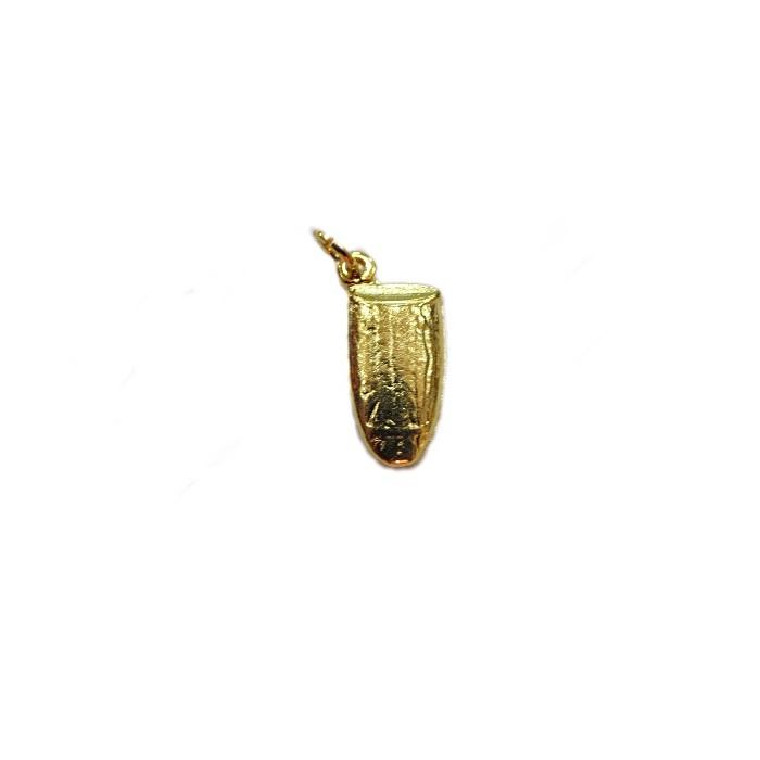 Pingente ferramenta dourada atabaque- PFD018