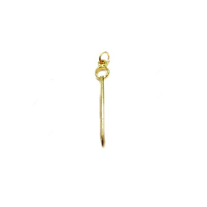 Pingente ferramenta dourada iroko- PFD029