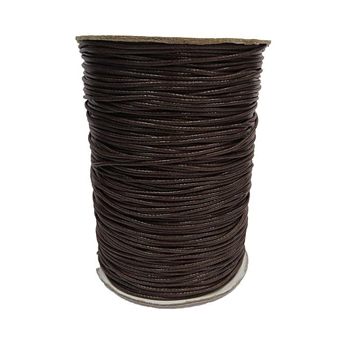 Cordão encerado brilhoso chocolate fino (200 mts)- CA004 ATACADO