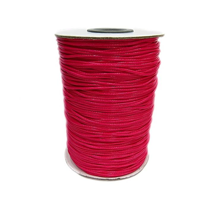 Cordão encerado brilhoso pink fino (10 mts)- CA005