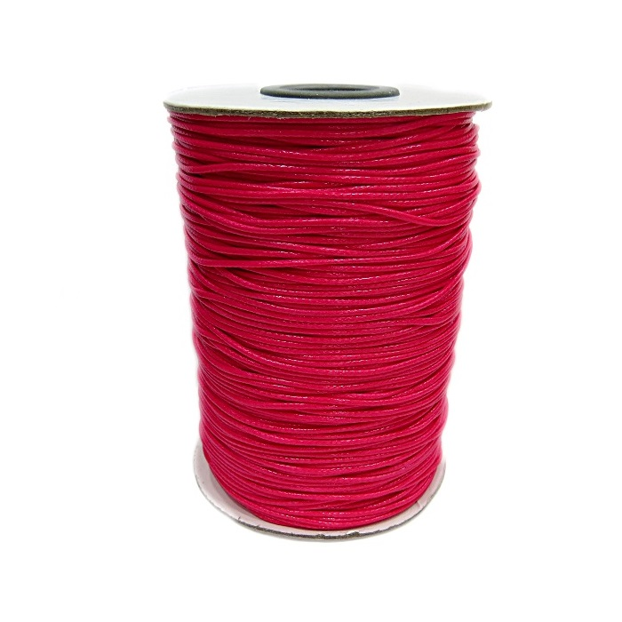 Cordão encerado brilhoso pink fino (200 mts)- CA005 ATACADO