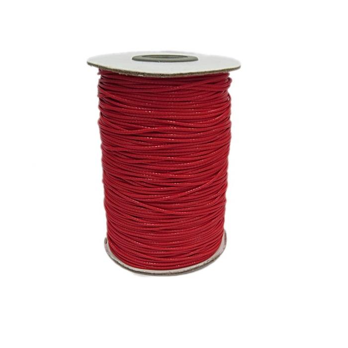 Cordão encerado brilhoso vermelho fino (10 mts)- CA007