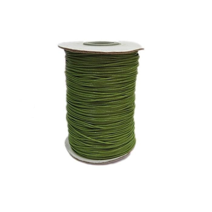 Cordão encerado brilhoso verde pistache fino (200 mts)- CA009 ATACADO