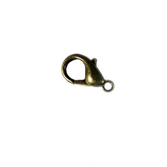 Fecho Lagosta ouro velho latão Nº 02 (10 unid.) - FLO002