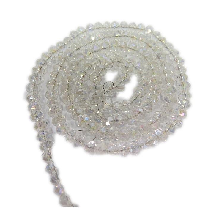 Fio de cristal chinês Nº04 cristal Ab- CC001