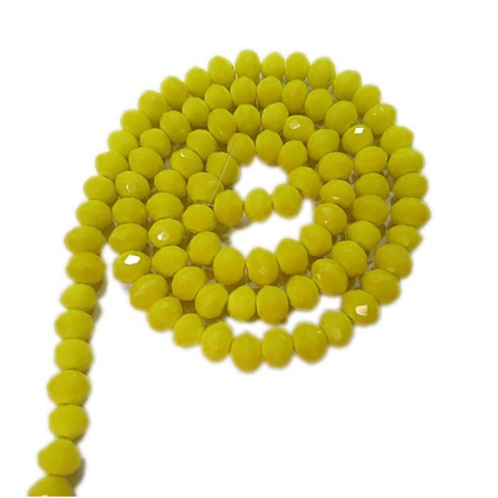 Fio de cristal chinês Nº 06 amarelo- CC006