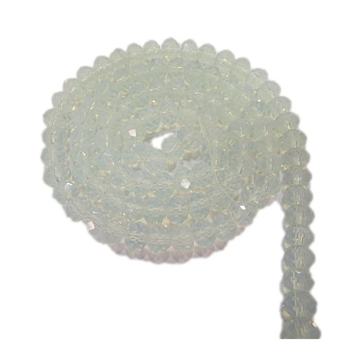 Fio de cristal chinês Nº 06 white opal - CC027