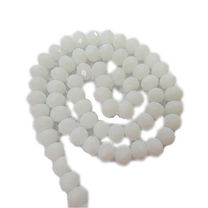 Fio de cristal chinês Nº 08 branco leitoso - CC027
