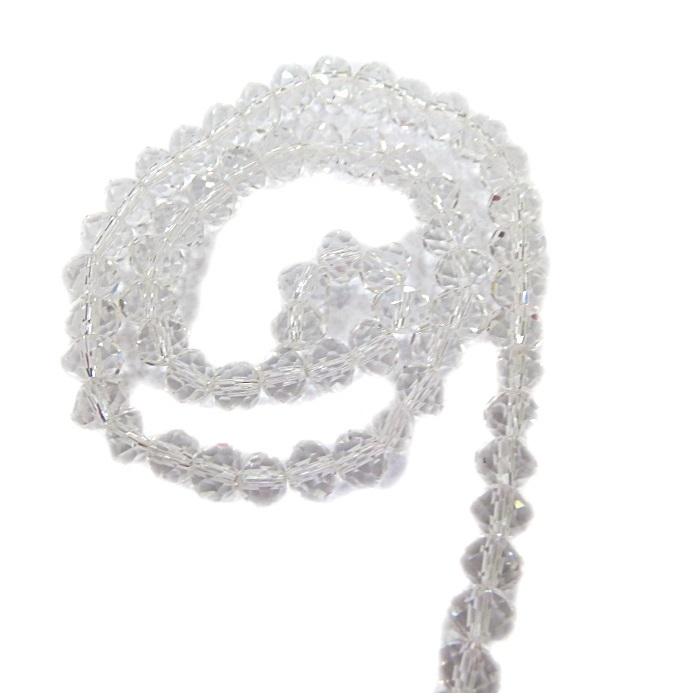 Fio de cristal chinês Nº 08 cristal - CC029