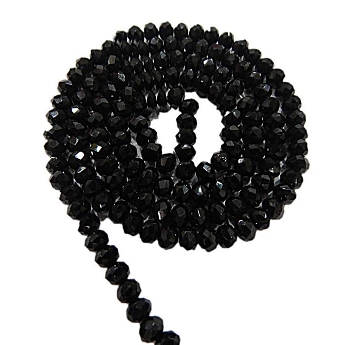 Fio de cristal chinês Nº 08 preto- CC033