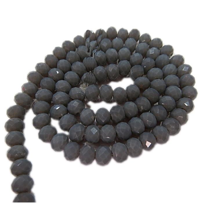 Fio de cristal chinês Nº 08 cinza escuro - CC035