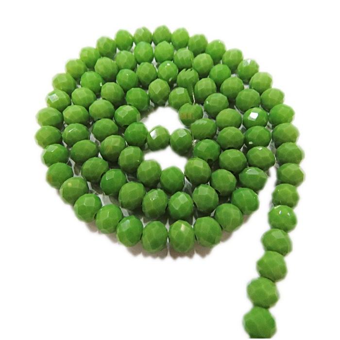 Fio de cristal chinês Nº 08 verde pistache leitoso - CC040
