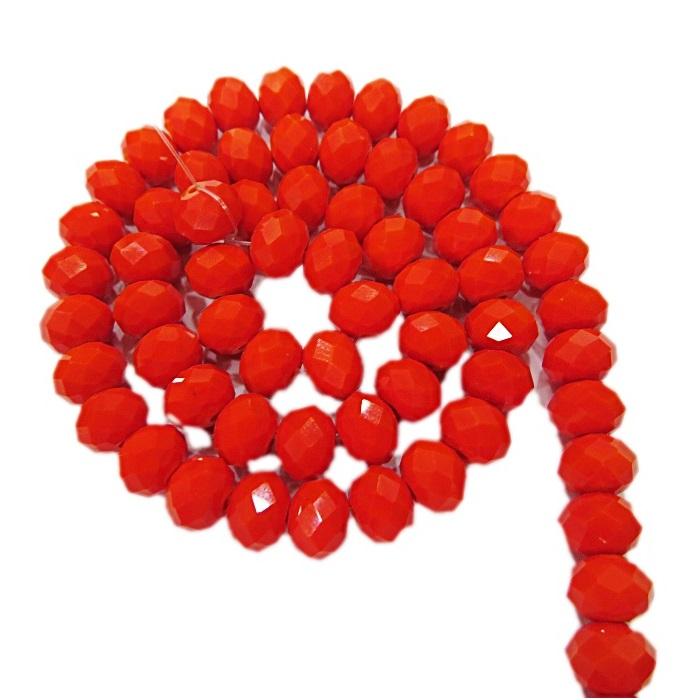 Fio de cristal chinês Nº 08 laranja- CC045