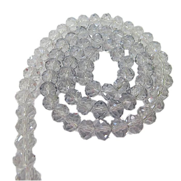 Fio de cristal chinês Nº 08 Black diamont transparente- CC048