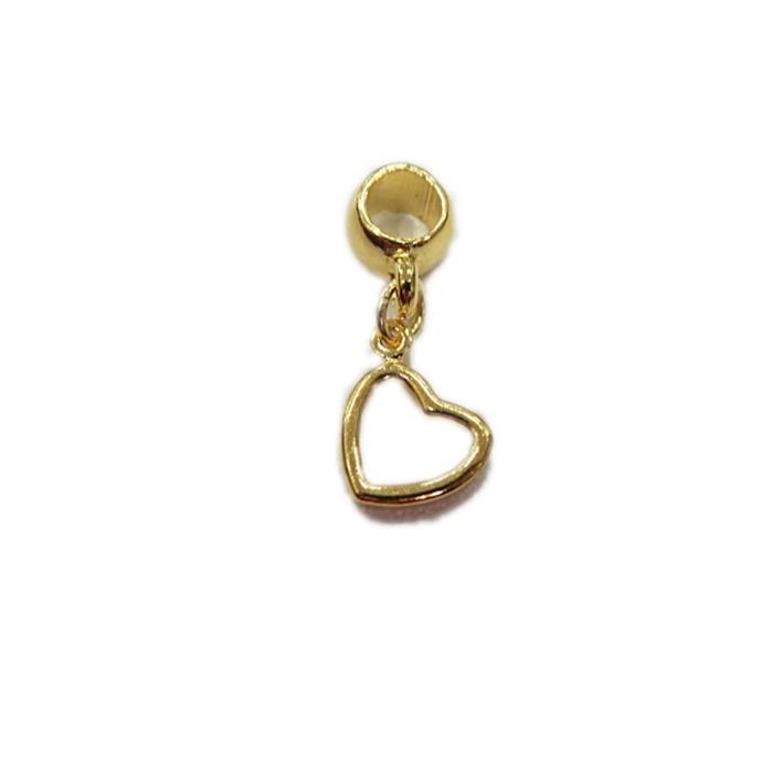 Berloque Dourado Mini Coração BER017