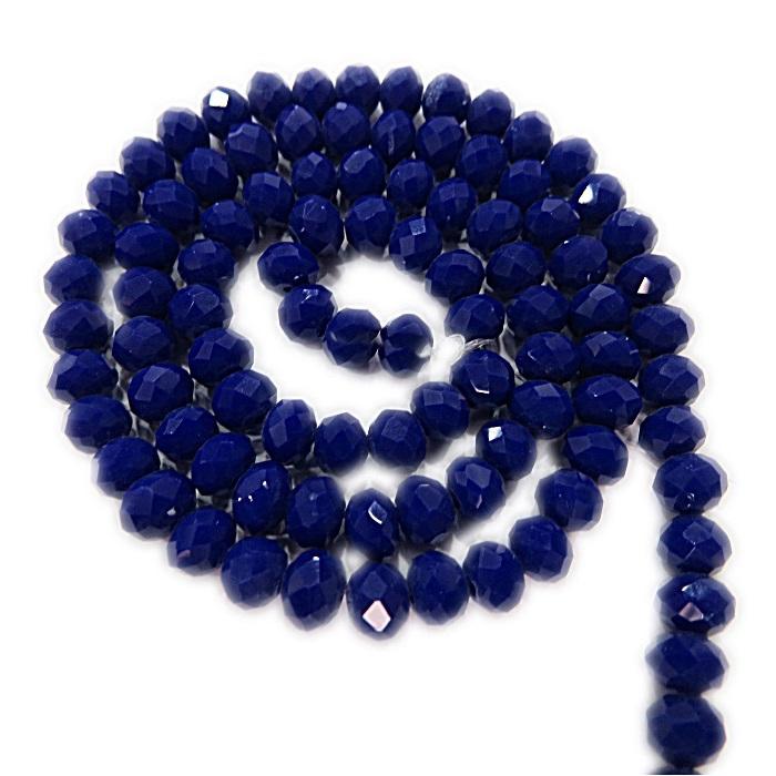 Fio de cristal chinês Nº 10 azul bic leitoso- CC057