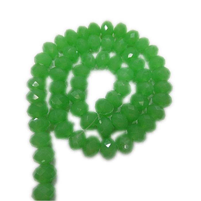 Fio de cristal chinês Nº 10 verde agua opalino- CC067