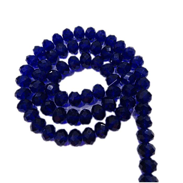 Fio de cristal chinês Nº 10 azul bic transparente- CC071