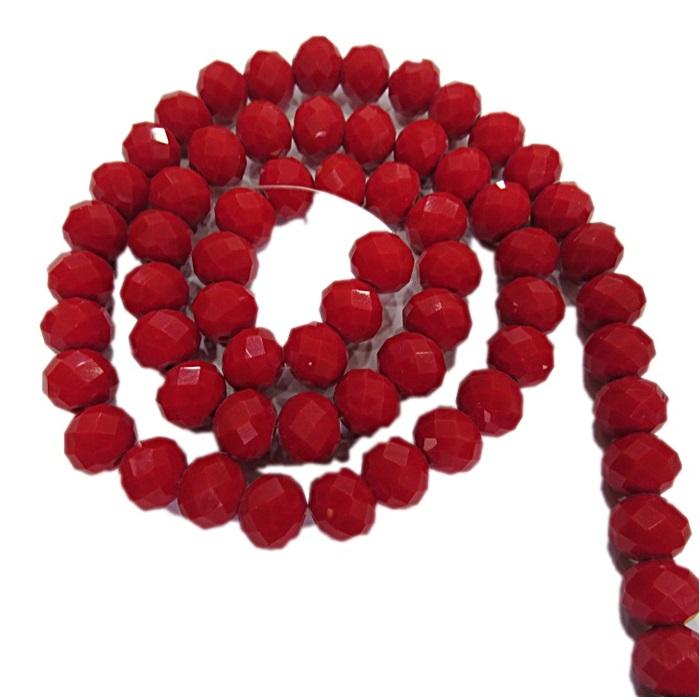 Fio de cristal chinês Nº 10 vermelho - CC075