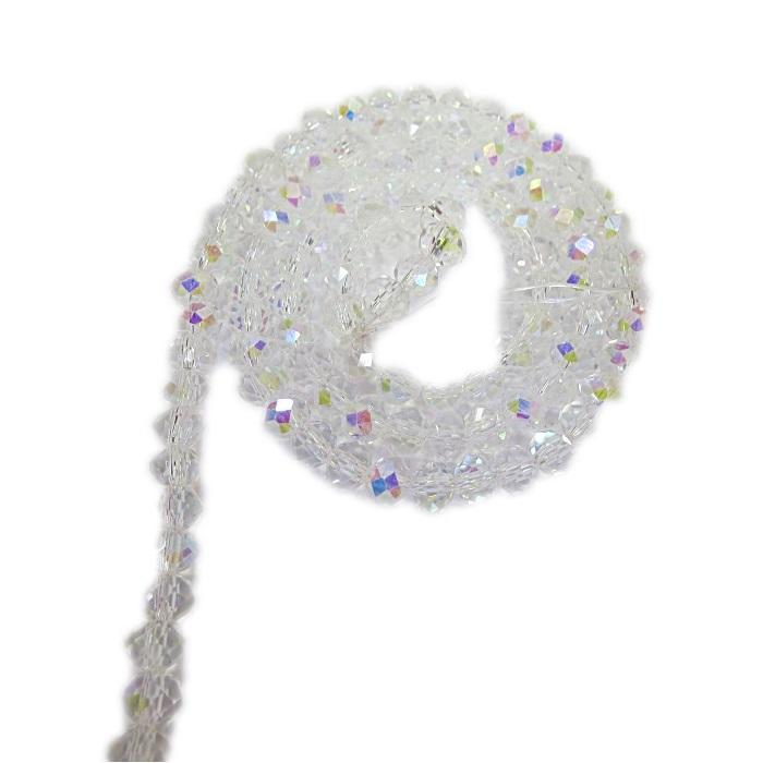 Fio de cristal chinês Nº 10 cristal Ab- CC076