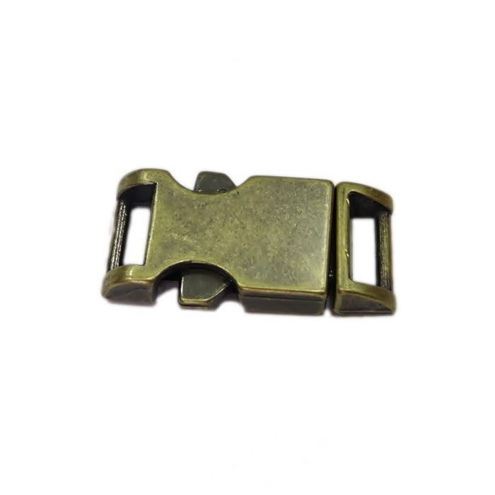 Fecho mochila Ouro velho Pequeno e Grande (1 unid.)- FG005