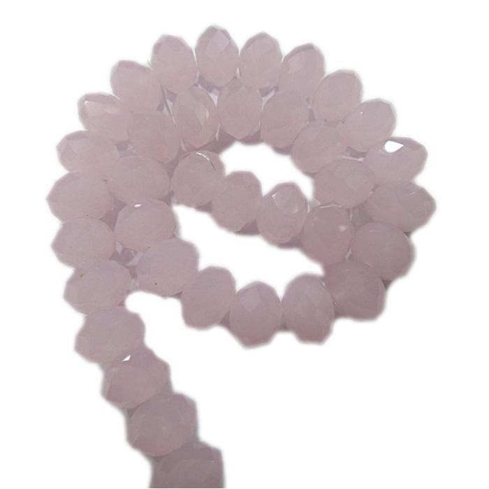 Fio de cristal chinês Nº 12 rosa opalino- CC098