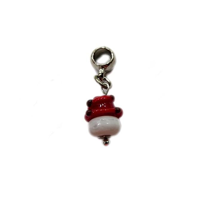 Berloque pingente níquel bolinho de murano- BEN292