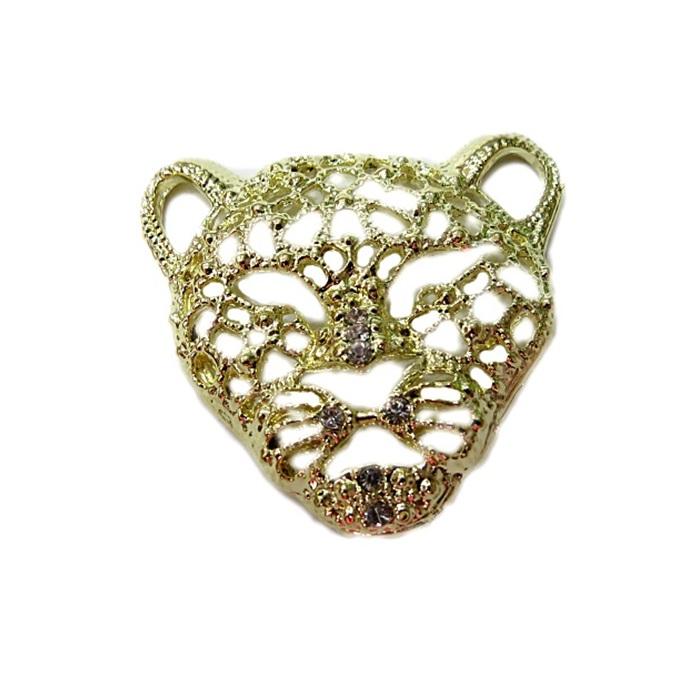 Entremeio dourado de costura tigre- EC011