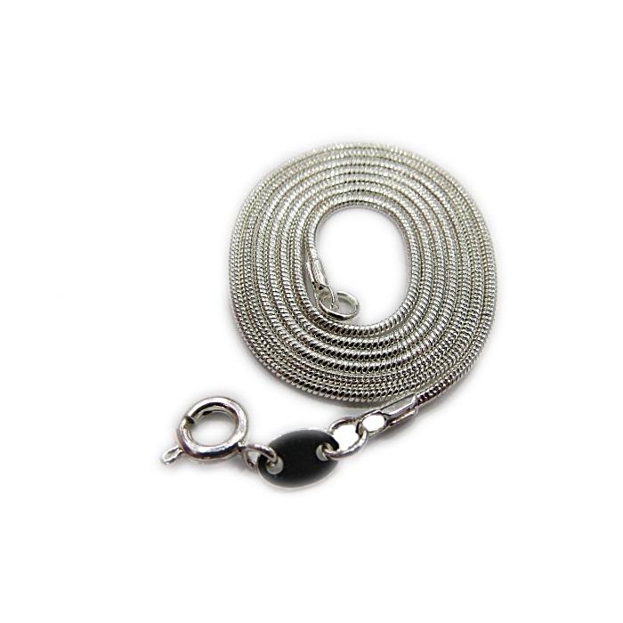Cartela de corrente banho/prata rabo de rato (12 unidades)- CON012