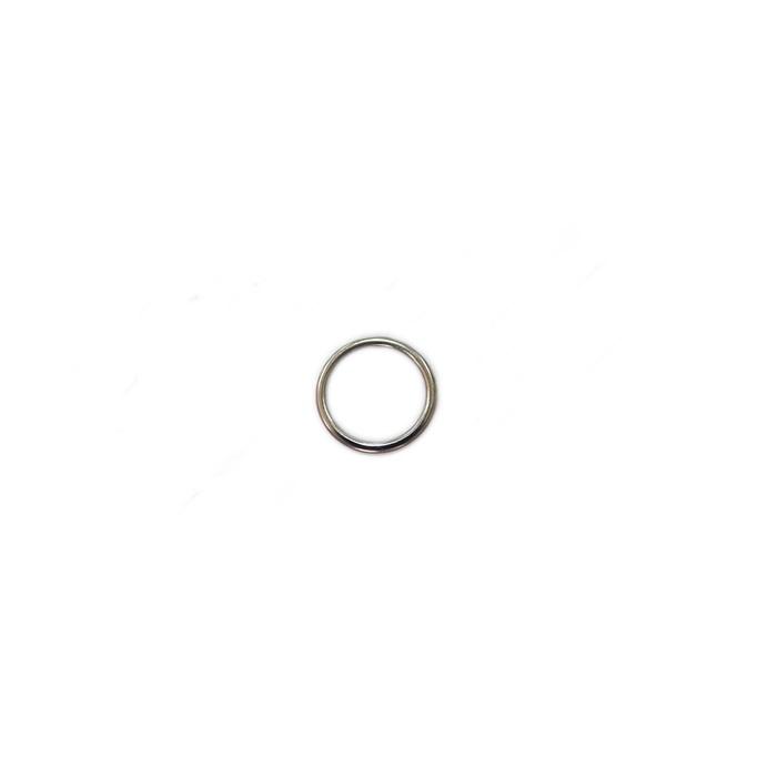 Argola de metal níquel achatada 2,4cm (10 unidades)- AM002
