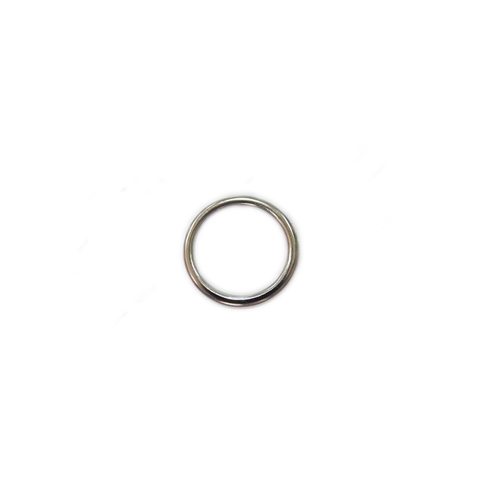 Argola de metal níquel achatada 2,5cm (100 unidades)- AM003 ATACADO