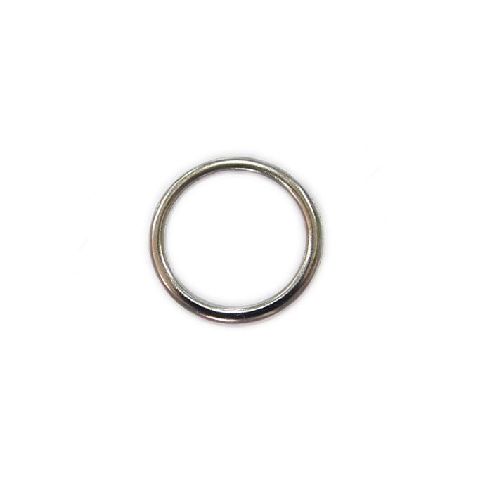 Argola de metal níquel achatada 3cm (10 unidades)- AM004