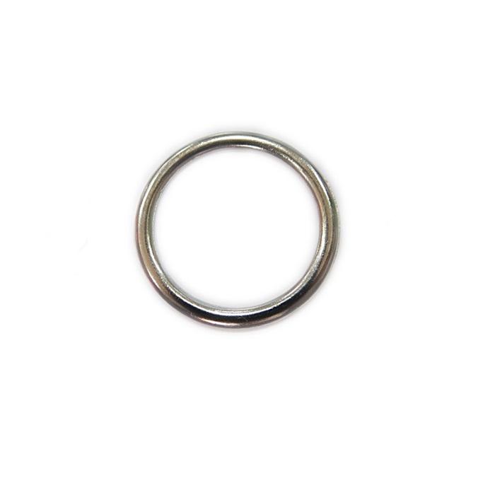 Argola de metal níquel achatada 3,5cm (10 unidades)- AM005