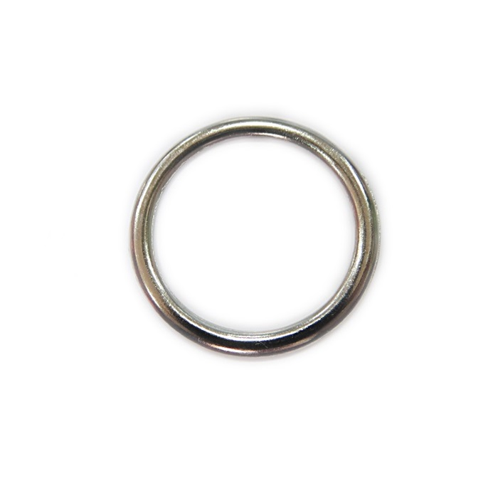 Argola de metal níquel 5,0cm (10 unidades)- AM006 ATACADO